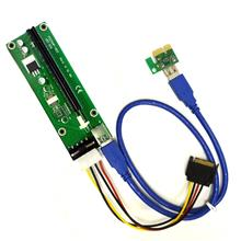 MIT PCIE 1x to 16x Ver006 Riser Card USB 3.0 Adapter Extender